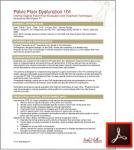 Pelvic Floor Dysfunction 101